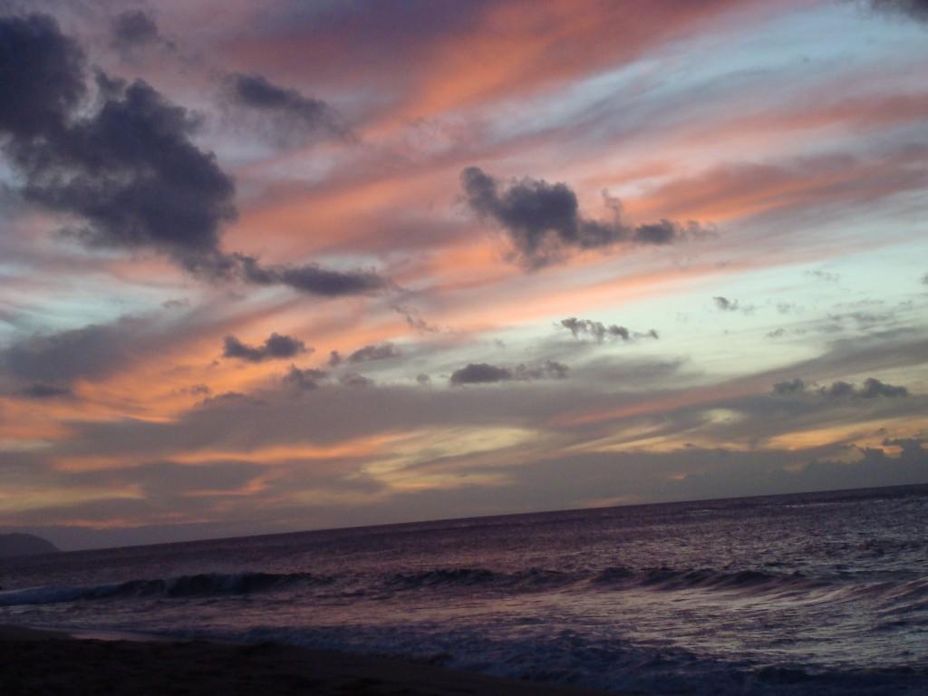 Sunset Beach, HI, Pink light